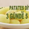 Patates Diyeti İle Kısa Sürede 5 Kilo Verebilirsiniz