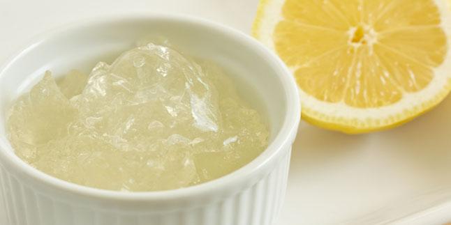 jelatin limon maskesi