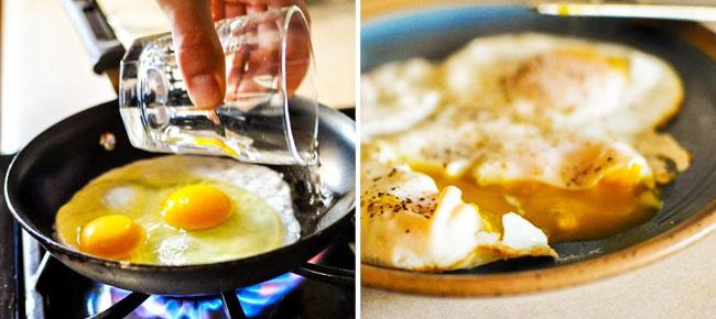 su ile yumurta kırma