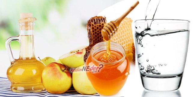 elma sirkesi bal ılık su