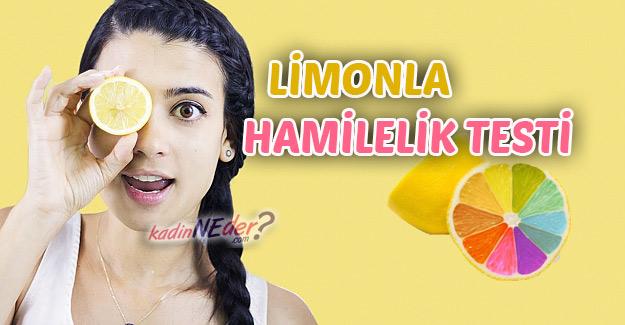 limonla hamilelik testi