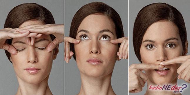 yüz bakım egzersizleri