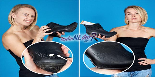 nemlendirici ile ayakkabı çizikleri giderme