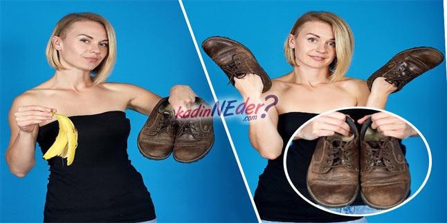 muz kabuğu ile ayakkabı parlatma