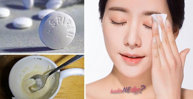 Donuk Ciltler İçin Aspirin Maden Suyu Cilt Bakım Maskesi